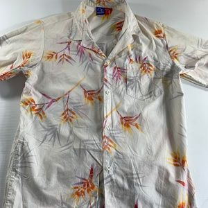 Vintage OP Mens Hawaiian Shirt Size Large